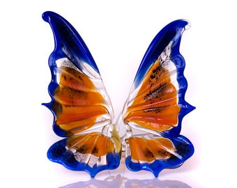 Large Glass Butterfly Figurine insect statuette home decor figurine art glass sculpture collectible glass butterfly art