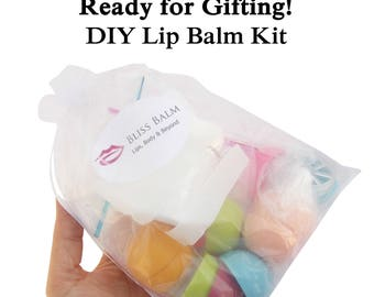DIY Lip Balm Kit, Choose your color/flavor 6 lipbalm Oval containers, Round, make your own lip balm, BLISSBALM Exclusive item