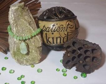 Green Druzy Bracelet