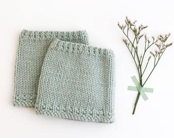 SAGE GREEN Baby leg warmers