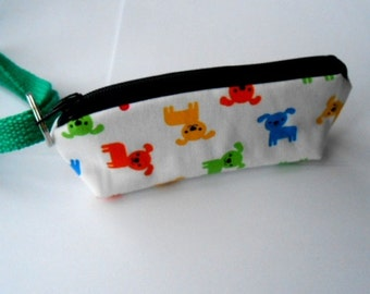 Dog Bag Holder Zipper Pouch with Key Ring ECO Friendly Padded  NEW Mini Pups