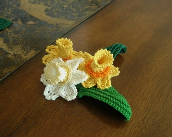 Daffodil Bouquet CROCHET PATTERN Lovely adornment for your projects PDF File