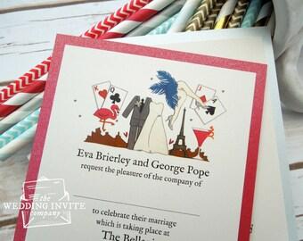 Las Vegas Postcard Wedding/Evening Invitations
