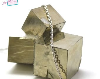 """1 m of mesh chain """"Oval 3 x 2 mm"""", silver 05"""