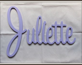 """SPECIAL OFFER! Wooden Name  12"""" 15"""" or 18"""" Capital Letter  Unpainted or Painted Connected Wood Name Boys and Girls Name Wall Letters"""