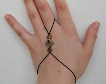 """Celtic/Pagan/Fae Elastic slave wristband """"Addurn"""" - Last pieces, ONLY available in silver tone -"""
