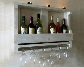 distressed wine rack etsy. Black Bedroom Furniture Sets. Home Design Ideas