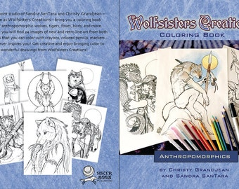 Wolfsisters Creations Anthropomorphics Coloring Book
