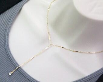 Elegant Lariat Y Necklace