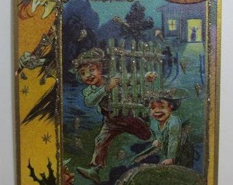 Antique Halloween Postcard .1912.