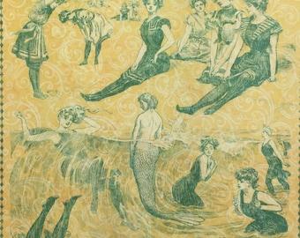 Graphic 45, On the Boardwalk, She Sells Sea Shells, 8 x 8, Single Sheet, Retired, Vintage