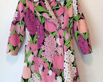 Spring floral trench coat