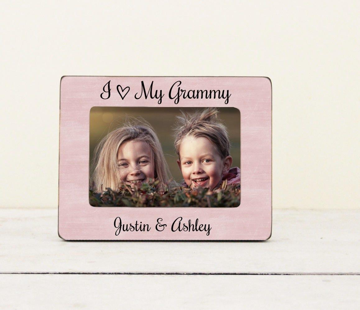 Grandma Picture Frame, I Love My Grammy, Personalized Grandma ...