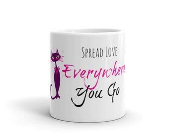 Mug Ceramic Personalized, Cat,