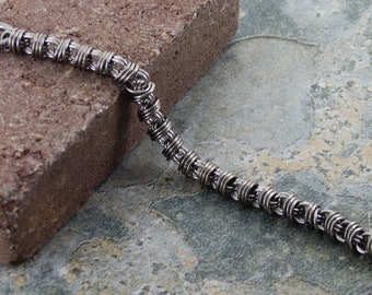 Stainless Steel Orbital Chainmaille Bracelet