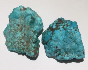 2pc Rare 10.3g Authentic Natural Raw Morenci Turquoise Crystal Nugget Set - Morenci, Arizona, USA - Item:TQ17013