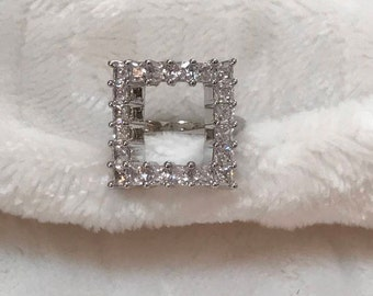 """Square """"See through ring"""""""
