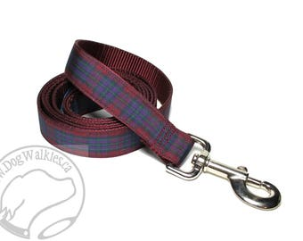 Pride of Scotland Autumn Tartan Leash // Matching Tartan Dog Leash in all widths // custom lengths // Plaid Leashes // Handmade