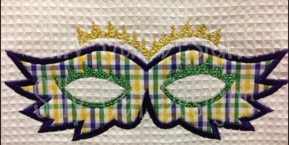 Mardi Gras Mask Applique Design