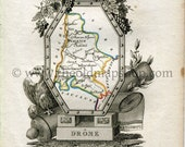 1823 Perrot Map of Drôme...