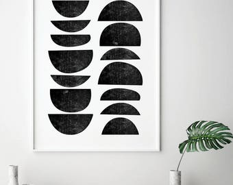 Black and White, Scandinavian Art, Printable Art, Minimalist Poster, Black White Print, Scandinavian Print, Minimalist Print, Wall Art, BW