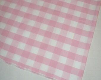 Rose tissu vérifier, Coton Pima, France, pétale de rose, blanc, 2 restes, 16 x 67, Jacadi Paris