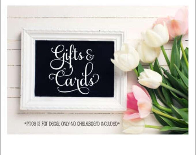 Wedding Decal Gifts and Cards Vinyl Decal Wedding Table Decor Card Table Bridal Shower Wedding Elegant Decal for Chalkboard Wedding Decor