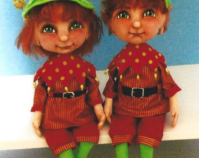 """SE903E - Pixies – 16"""" Painted Fabric Doll, Cloth Doll Sewing Pattern - PDF Download by Susan Barmore"""