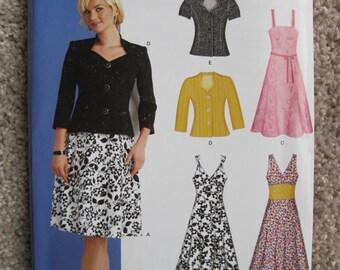 UNCUT Misses Dress, Jacket, Shirt, Blouse - Size 8, 10, 12, 14, 16, 18 - Simplicity New Look Pattern 6867