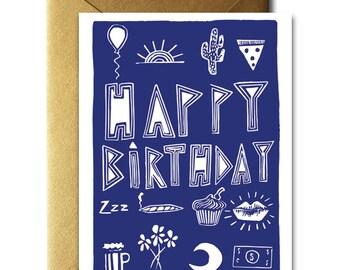 Happy Birthday Stuff card