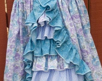 Sun dress - Lavender / blue floral (5T)
