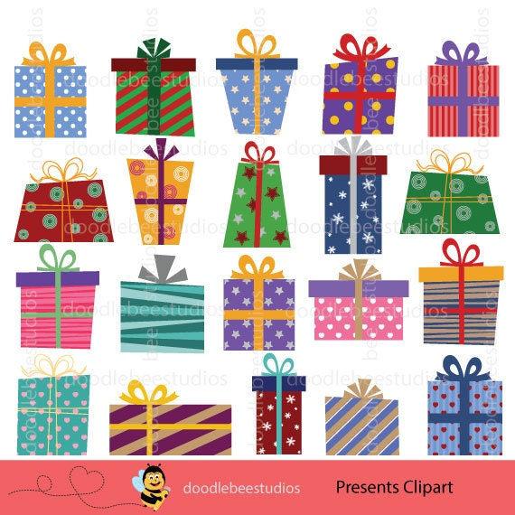 presents clipart christmas presents clipart birthday rh etsy com clip art presentation clipart christmas presents