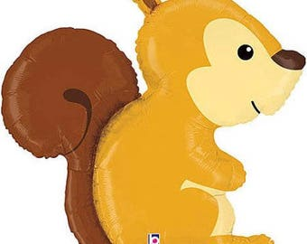 "Woodland Squirrel 36"" Mylar Balloon"
