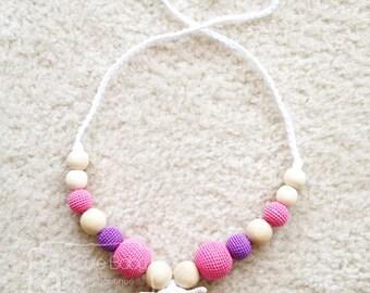 Little Lamb Nursing Necklace, Breastfeeding, Teething, Custom made