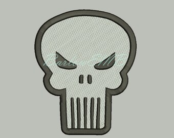 8 Size Punisher Skull Logo Embroidery Designs Instant Download 8 Formats machine embroidery pattern