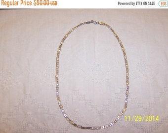 SUMMER SALE 20% OFF, Vintage Links Necklace. Sterling Silver.