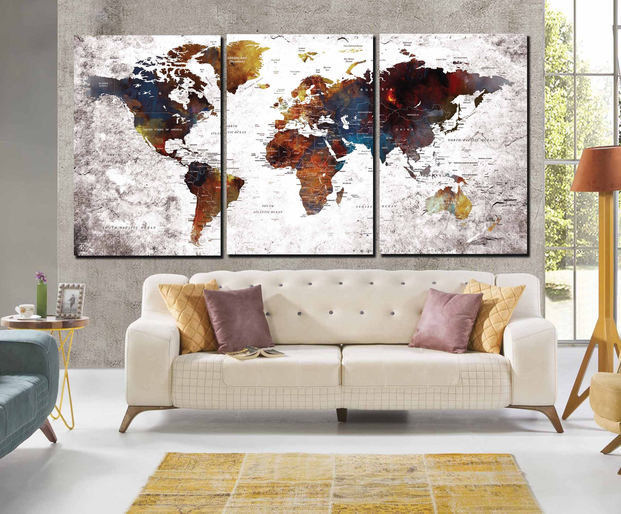 World map wall artworld map canvaslarge world map printlarge world map wall artworld map canvaslarge world map printlarge world maplarge travel mappush pin world mapworld map push pinmap art gumiabroncs Images