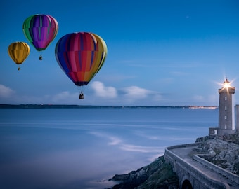 Balloons and Lighthouse