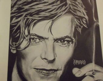 David Bowie Art Print 1 -- Bradford Salamon