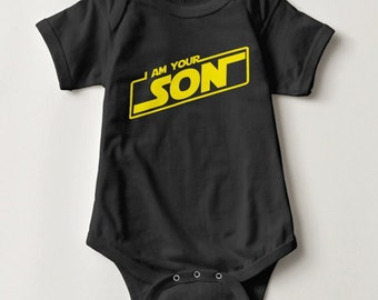 I Am Your Son Infant One Piece Baby Bodysuit | Cute Scifi Snapsuit for baby | Kids Clothing | I Am Your Father