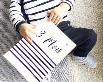 """""""Sailor"""" baby steps & pouch, created with Malotine cards"""