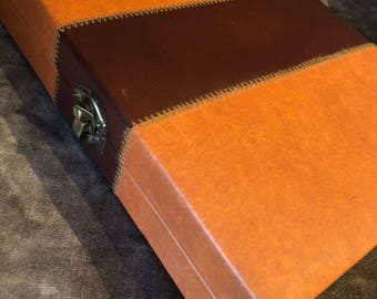 Vintage Retro backgammon game w case