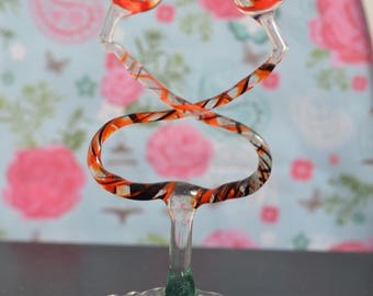 Fabulous 1970s Colourful Murano Glass Birds in Flight Vintage Ornament