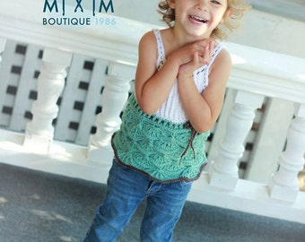 INSTANT DOWNLOAD - Crochet Pattern Mermaid Maddie Top