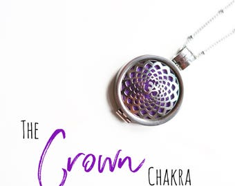 Crown Chakra Diffuser Necklace
