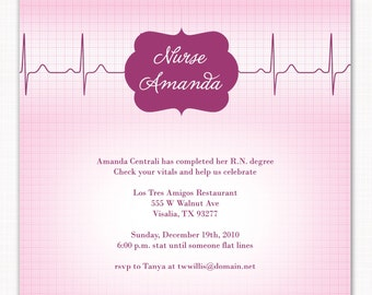 R.N. - a custom photo party invitation for a registered nurse