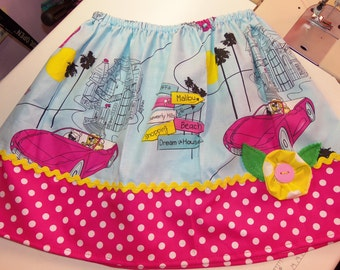 Barbie Polka Dots Flower  Skirt Size 4t ONLY   ready to ship.