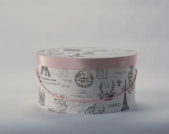 Pink Paris Hat Box
