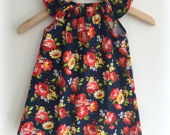 Baby and Girls Dress, Handmade - Available in size 000, 00, 0, 1, 2, 3, 4