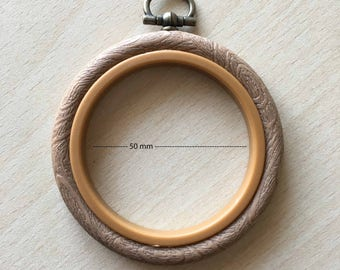 Hoop / circle embroidery and frame size 5 cm 2.5 inch